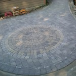 circular pattern interlocking brick victoria