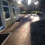 interlocking brick back patio