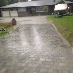 interlocking brick driveway
