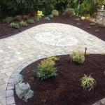 interlocking brick patio