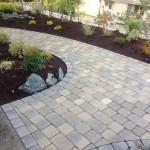 interlocking brick patio back