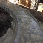 interlocking brick side patio